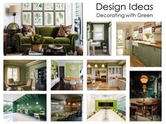 Decorating with green, home decor ideas and inspirations