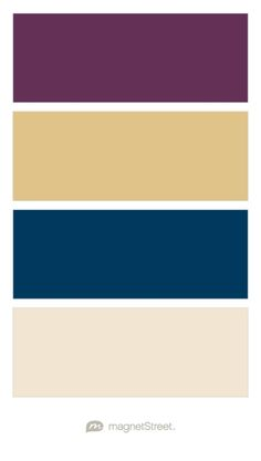 Eggplant, Gold, Navy, and Champagne Wedding Color Palette - custom color palette created at MagnetStreet.com