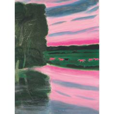 'Rives du Loir' by Andre Brasilier Academic Art, Paintings I Love, Contemporary Landscape, Renaissance Art, French Artists, Graphic Illustration, Illustrations, Lovers Art, Landscape Paintings