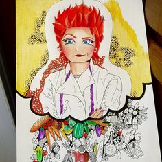 Progress, Red from Orange ~ Me Anime, Anime Art, Oitnb Red, Sketch Ink, Orange Design, Orange Is The New Black, Real People, Caricature, Colored Pencils