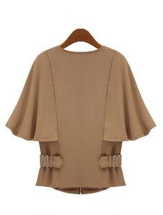 Shop Camel Half Sleeve Zipper Crop Cape Coat online. SheIn offers Camel Half Sleeve Zipper Crop Cape Coat & more to fit your fashionable needs.