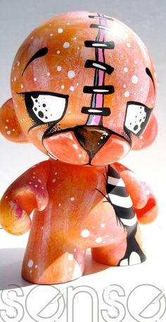 "SENSE Custom Painted 8"" KidRobot Munny Figure"