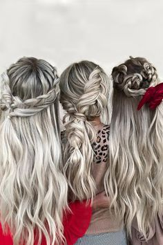 48 Hottest Bridesmaid Hairstyles For 2020 + Tips & Advice ❤ bridesmaid hairstyles simple on long hair with braids hairby_chrissy Bridesmaid Hair Down, Bridesmaid Hairstyles, Wedding Hairstyles, Formal Hairstyles, Natural Wedding Makeup Looks, Bridal Makeup Looks, Pretty Hairstyles, Braided Hairstyles, Big Barrel Curls