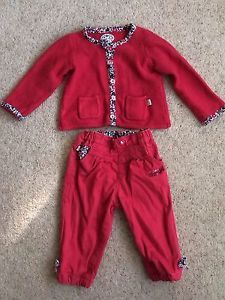 Red Baby Girl Outfit 6-9 Months | eBay