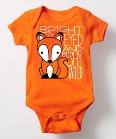 Loving this Orange \'Bright Eyed\' Fox Bodysuit - Infant on #zulily! #zulilyfinds