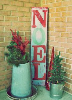 Christmas easy DIY noel sign, long wooden noel sign for 2013 Christmas, Christmas home decor