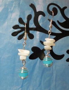 White Mother of Pearl Silver Bead Cage by AphroditeDelights, £2.00