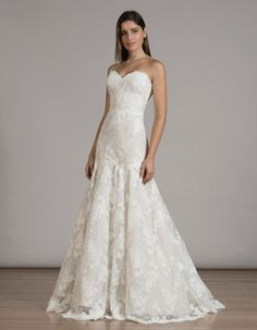 Embroidered Liancarlo lace fit-and-flair wedding gown // Best of Bridal Week 2016 - Part 2