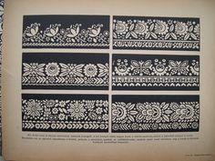 Albumarchívum Folk Embroidery, Hand Embroidery Stitches, Folk Art, Album, Drawings, Hungary, Tiles, Archive, Room Tiles