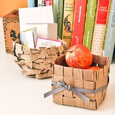 Super Cute! Upcycled Paper Bag Baskets