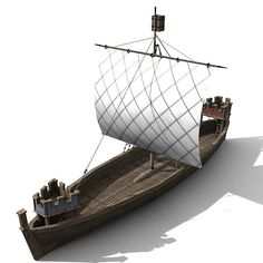 3D model of a Hulk ship from the 11th century