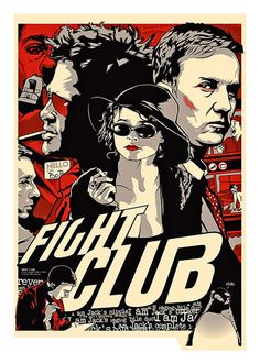 Fight Club Movie Poster, available at 45x32cm and 50x70cm.This poster is printed on matt coated 350 gram paper. Also available on matt BlockMount at 50x70cm.