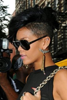 Rihanna's very famous and popular hairstyle :) I like it!!!!