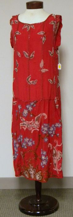 Two 1920s Beaded Silk Dresses | Sale Number 2576M, Lot Number 644 | Skinner Auctioneers