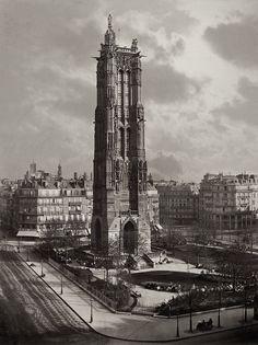 La Tour St. Jacques La Boucherie à Paris ca. 1867 - Saint-Jacques Tower - Wikipedia
