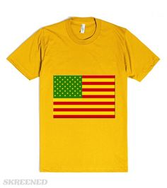 American Flag | Green Yellow and Red American Flag #Skreened