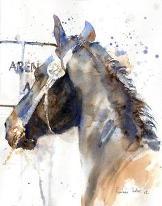 "New Watercolor Painting of a Friesian Horse ""Friesian Show"" Watercolor Horse, Watercolor Animals, Watercolour Painting, Artist Painting, Art Paintings, Watercolours, Arte Equina, Horse Drawings, Equine Art"