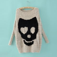 Ladies Asymmetric Skull sweater - $25.99 in xs or small