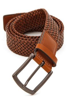 Men's Trafalgar 'Ethan' Braided Leather Belt