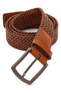Men's Trafalgar 'Ethan' Braided Leather Belt