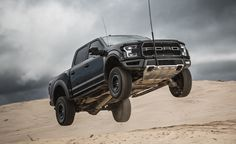 Ford& 2017 Raptor once again redefines what a full-size pickup truck is capable of. Read our full road test and see photos at Car and Driver. Ford F150 Raptor, 2018 Ford F150, Ford Bronco, Ford Ranger Wildtrak, Ford Trucks, Pickup Trucks, Classic Car Insurance, Ford News, Twin Turbo