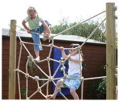 rope climbing frame By Ropeloft = love it