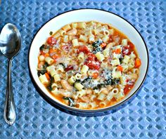 Pasta Fagioli-a meatless soup hearty enough to be dinner.