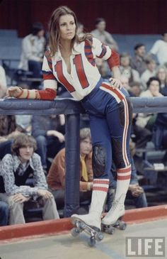 "vintage roller girl Raquel Welch was crowned the ultimate derby bombshell in the 1972 movie, ""Kansas City Bomber"""