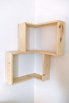 Two simple corner shelving units I think this is a great design! #decor Double Corner Box Shelf on Etsy, $61.88 CAD
