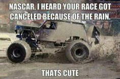 Hilarious Son of a Digger dissin' NASCAR. #monster #jam #nascar
