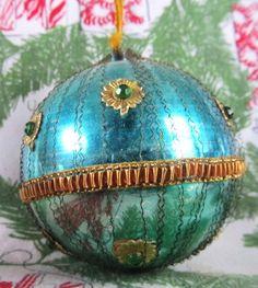Vintage 1940s Blue Green Handmade Mercury by AuntSuesVintage, $18.99