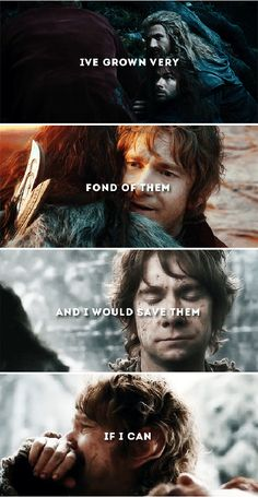 He was only a little hobbit, you must remember. #thehobbit