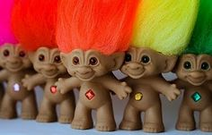 Troll Dolls... I had one with yellow hair and took him everywhere!
