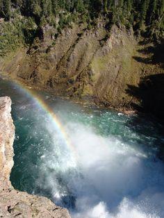 yellowstone national park | Yellowstone National Park Rainbow over Water