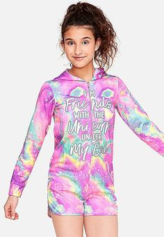 The Unicorn Under My Bed Galaxy Girls Romper Kids Outfits Girls, Cute Girl Outfits, Girl Fashion, Fashion Outfits, Fashion Clothes, Galaxy Outfit, Justice Stuff, Shop Justice, Cosy Outfit