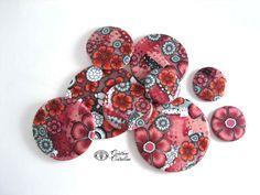 Fimo Cristalline, tuto et bijoux en polymère: Ou avec un peu de rose ...