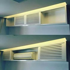 Home Decoration With Flowers Air Conditioner Cover Indoor, Ac Unit Cover, Usonian House, Air Conditioning Installation, Bedroom False Ceiling Design, Home Upgrades, Tiny Spaces, Decoration Design, Suites