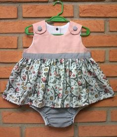Vestido e cobre fraldas 6/9  meses  -   Dress and diaper cover 6/9  months   Molde Gratuito no Facebook: Dona Fada-Grupo de Moldes Gratuitos  Free Patterns in Facebook:  Lady  Fairy-Free Pattern Group  (RLevyFile-Dois vestidos 6-9 meses-Two dresses 6-9 months.pdf)
