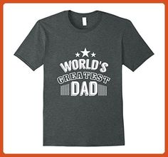Mens World's greatest dad T Shirt Small Dark Heather - Relatives and family shirts (*Partner-Link)