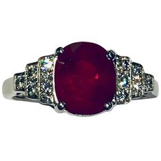 Andeole Ruby and Diamond Ring