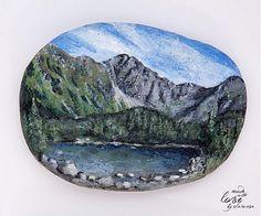 Maľovaný kamienok - ťažítko - motív prírody