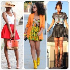 short skirts and hot weather!