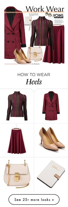 """Yoins - Work Wear"" by beebeely-look on Polyvore featuring Issey Miyake, Chloé, Calvin Klein, Swarovski, Tom Ford, WorkWear, fallfashion and yoins"