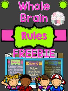 Do you use Whole Brain teaching as a classroom management approach with your students? Teach children the whole brain rules that are…