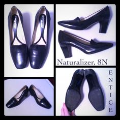 Naturalizer Entice Pump, 8N Brand new, worn once for a couple hours but just didn't fit quite right. Minimal wear on bottom & no scratches on leather upper. N5 comfort heel. Naturalizer Shoes Heels