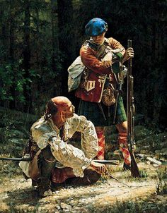 A Scottish Highlander and an Iroquois warrior. By Robert Griffing. Really like the contrasts yet, they're not in contrast, if you know what I mean.