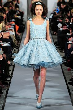 "Oscar de la Renta - Another of my ""top three favorite dresses"" from NYFW. So, so pretty. This is like an adult's version of a fairy princess dress."