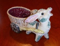Vintage Donkey Planter Figurine Kitch by PopcornVintageByTann