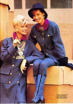 Linda Evangelista & Christy Turlington   out of Greek mag  Gynaika nov. 1991  Chanel ladies Uploaded by 80s-90s-supermodels.tumblr.com