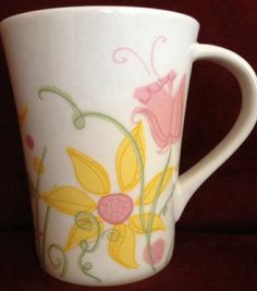 Starbucks 2006 Floral Coffee Mug Cup